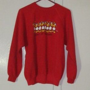 Vintage Red Duck Sweatshirt Hanes Large
